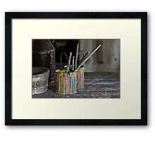 Color Painting Framed Print