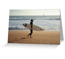Surfing the sand. Greeting Card