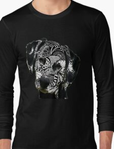Zentangle Dalmation Dog Long Sleeve T-Shirt