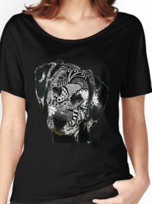 Zentangle Dalmation Dog Women's Relaxed Fit T-Shirt