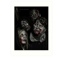 Zombies don't say 'Brains' Art Print