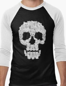 Skulls are for Pussies Men's Baseball ¾ T-Shirt