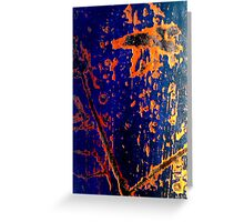 Cobalt and rust Greeting Card