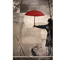 Shelter from the rain! Photographic Print