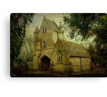 Chatham Cemetery Chapel Canvas Print