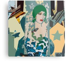 Pop arty tarot inspired collage - the moon Metal Print