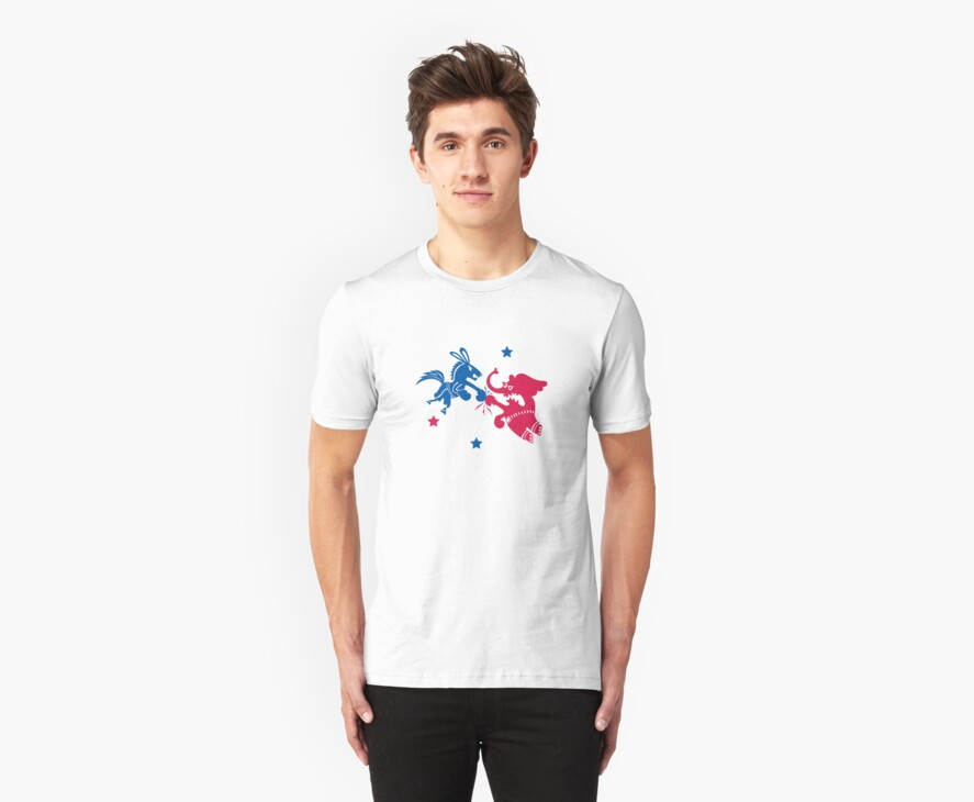 Political Fight t shirt by Andi Bird