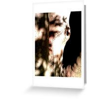 Tree mouth Greeting Card