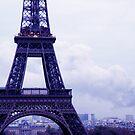Purple Eiffel by Christophe Claudel