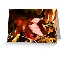120311 002 0 oil colors of fall blur Greeting Card