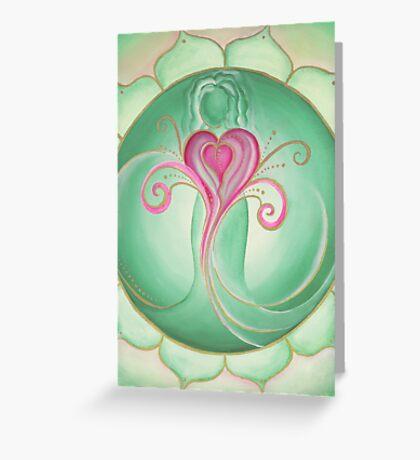 4th Chakra - Heart Chakra Greeting Card