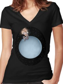 Lost in a Space / Uranusia Women's Fitted V-Neck T-Shirt
