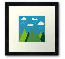 Simple Hills Framed Print