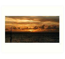Antigua Sunset. Art Print