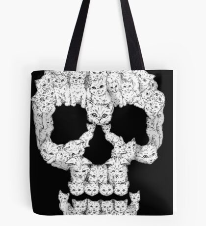 Skulls are for Pussies Tote Bag