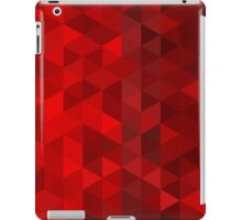 red triangle background iPad Case/Skin