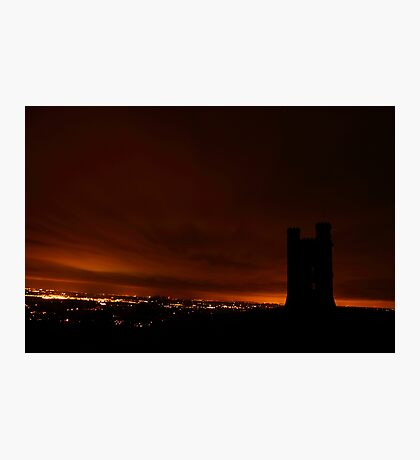 Towering in the night Photographic Print