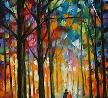 DATE IN THE PARK - LEONID AFREMOV by Leonid  Afremov
