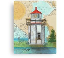 Yerba Buena Lighthouse CA Nautical Map Cathy Peek Canvas Print