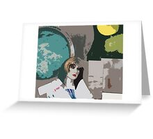 Pop arty tarot inspired collage - the world Greeting Card