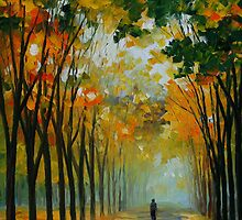 AUTUMN MOOD - LEONID AFREMOV by Leonid  Afremov