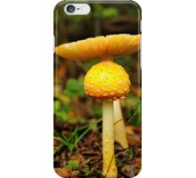 Yellow Mushrooms iPhone Case/Skin