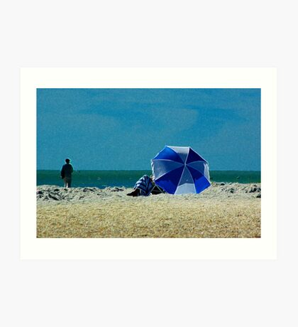 Beach Umbrella with Filter Art Print