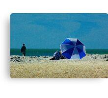 Beach Umbrella with Filter Canvas Print