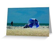 Beach Umbrella with Filter Greeting Card