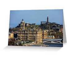 The Balmoral Hotel from the Castle Greeting Card