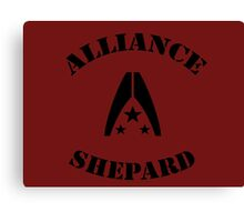 Commander Shepard  Canvas Print