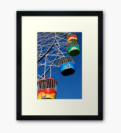 Hanging Baskets Framed Print