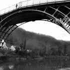 The Ironbridge, Shropshire B/W by rexhank