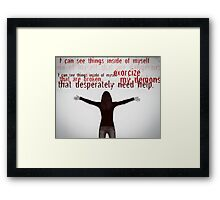 Save me from myself Framed Print