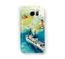 USCGC CHASE Helicopter Lighthouse Map Cathy Peek Samsung Galaxy Case/Skin