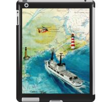 USCGC CHASE Helicopter Lighthouse Map Cathy Peek iPad Case/Skin