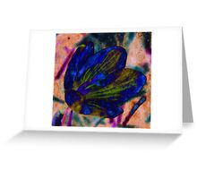 Strong Blue Greeting Card