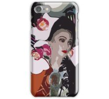 Pop arty tarot inspired collage - the high priestess iPhone Case/Skin