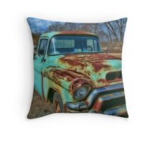 Old Flatbed Truck Throw Pillow