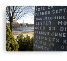 War Memorial Nova Scotia Canvas Print