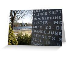 War Memorial Nova Scotia Greeting Card