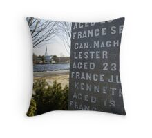 War Memorial Nova Scotia Throw Pillow
