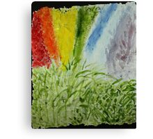 Genesis Laurel Rainbow Canvas Print