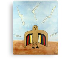 Dancing Robot  Bird Metal Print