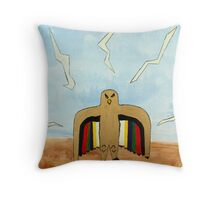 Dancing Robot  Bird Throw Pillow