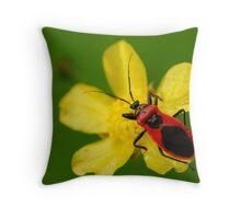 red bug Throw Pillow