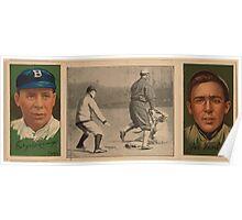 Benjamin K Edwards Collection Edgar Lennox Jos B Tinker Chicago Cubs baseball card portrait Poster