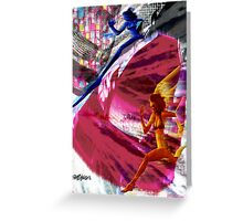 Running With Traffic Greeting Card