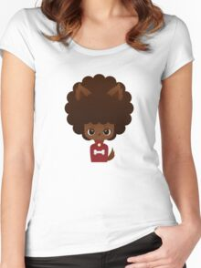 Werewolf afro girl Women's Fitted Scoop T-Shirt