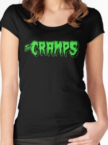 The Cramps GREEN FUZ Women's Fitted Scoop T-Shirt